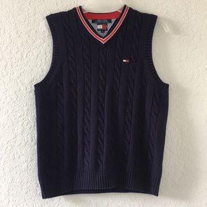 Boys Tommy Hilfiger Sweater Vest V-neck Blue M